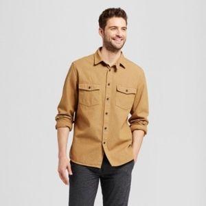 Men's Slim Fit Long Sleeve Button Down Work Shirt